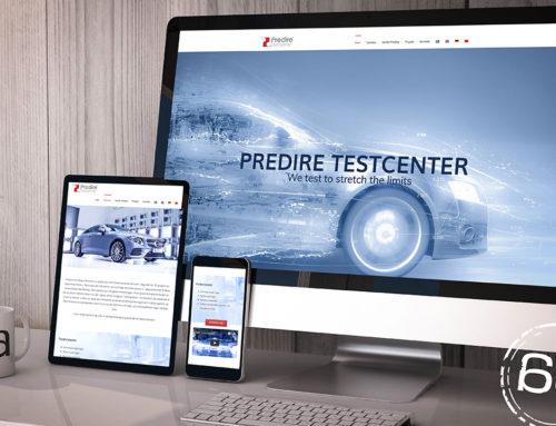 Predire Testcenter hemsida och reklamfilm